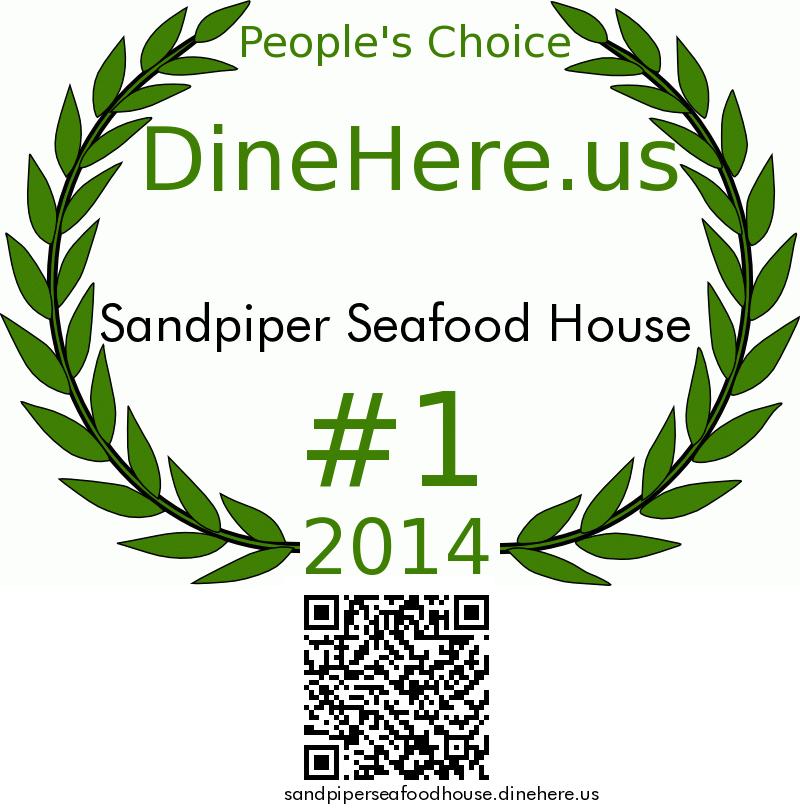 Sandpiper Seafood House DineHere.us 2014 Award Winner