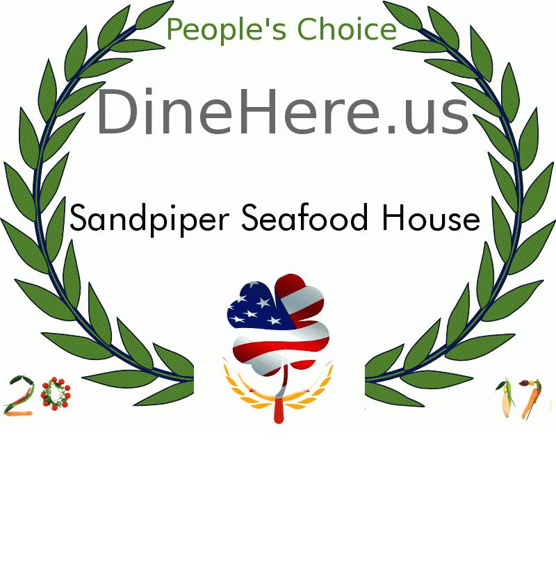 Sandpiper Seafood House DineHere.us 2017 Award Winner